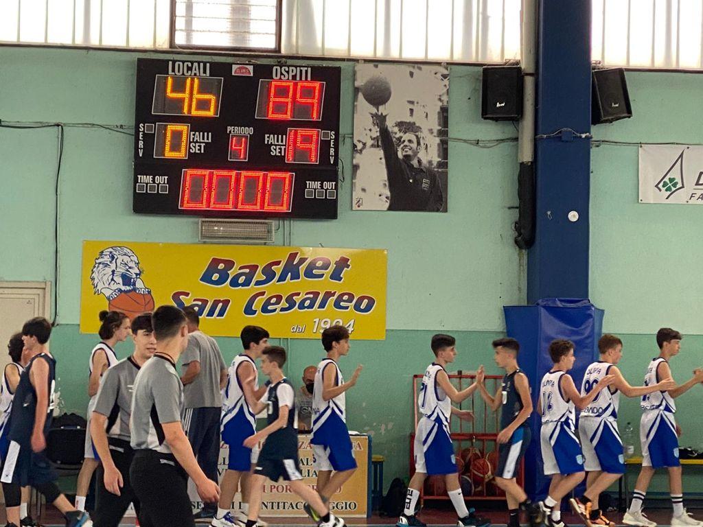 U14 S.Cesareo - Olimpia Roma  46 - 89 1